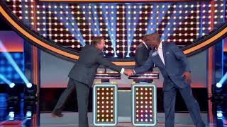INCREDIBLE MOMENT - Celebrity Family Fued - MLB vs. NBA Legends