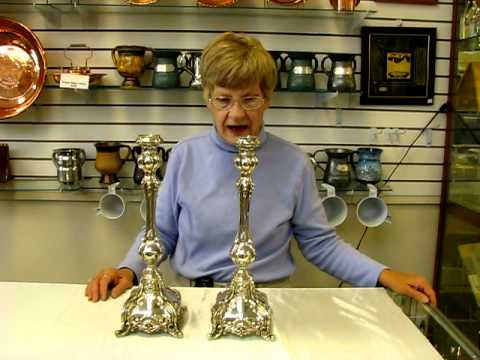 Sterling Silver Candlesticks - Made In Israel 925