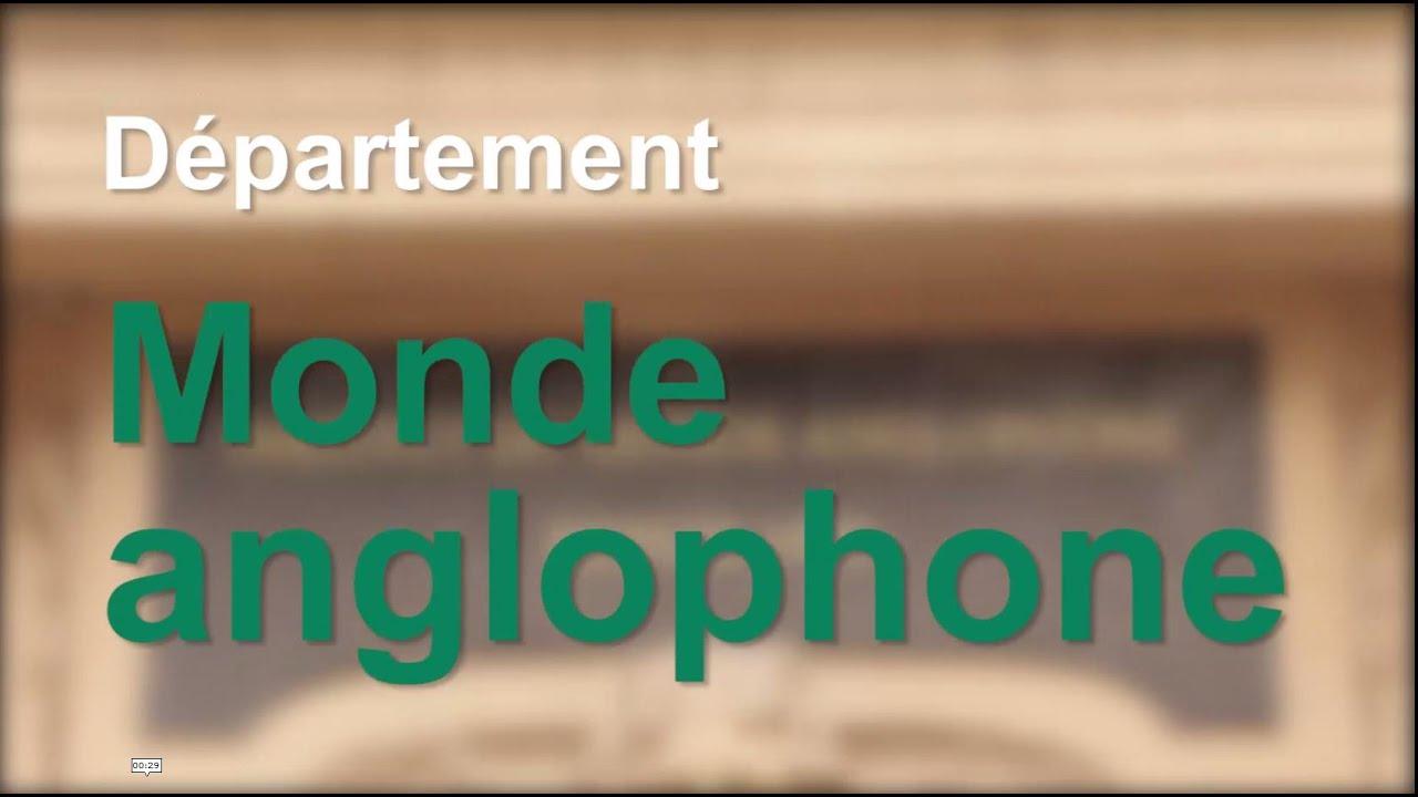 Universite Sorbonne Nouvelle Paris 3 Departement Monde