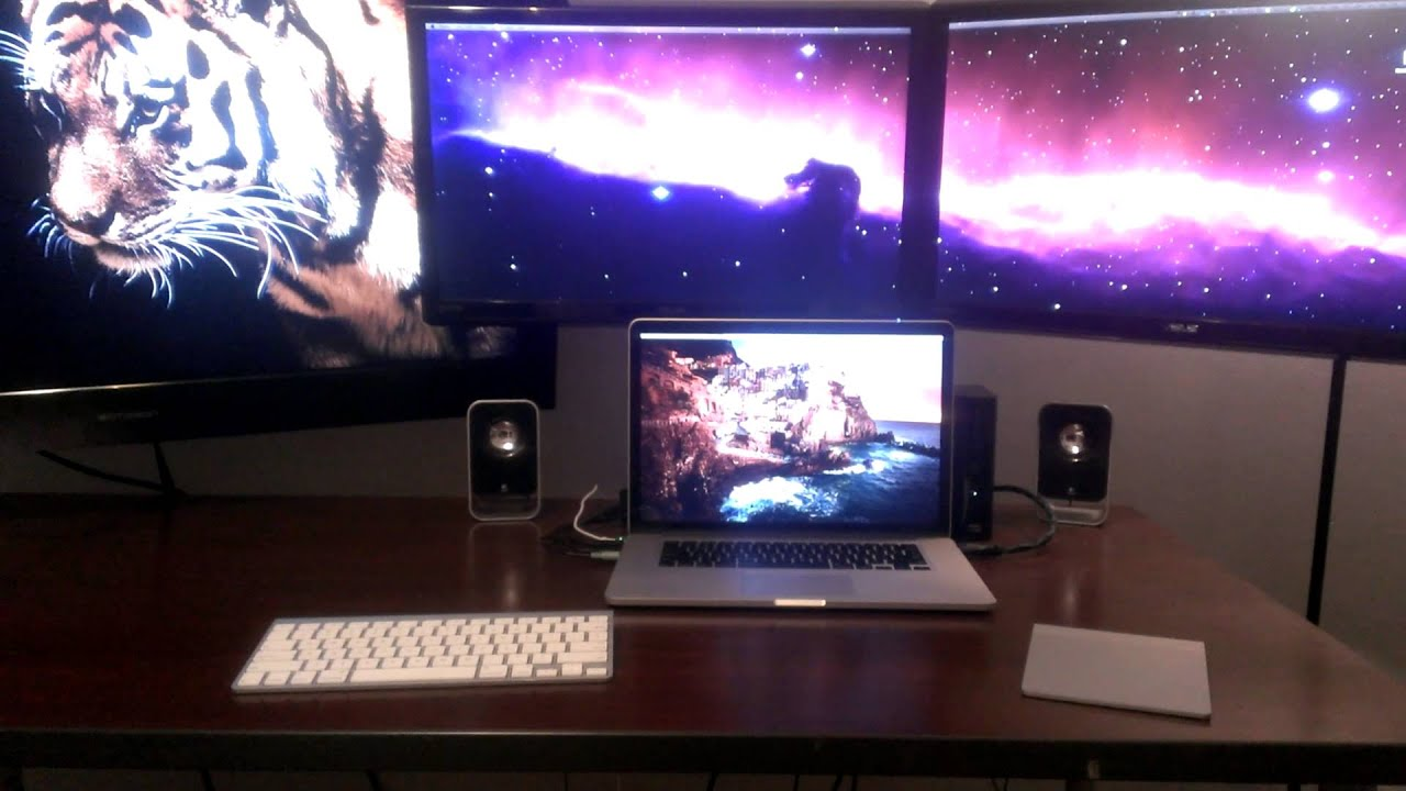 Can you hook up two monitors to a macbook pro