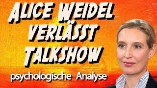 🏃♀️ Alice Weidel verlässt Talkshow • Psychologische Analyse: Wirkung, Konfrontation, Stress