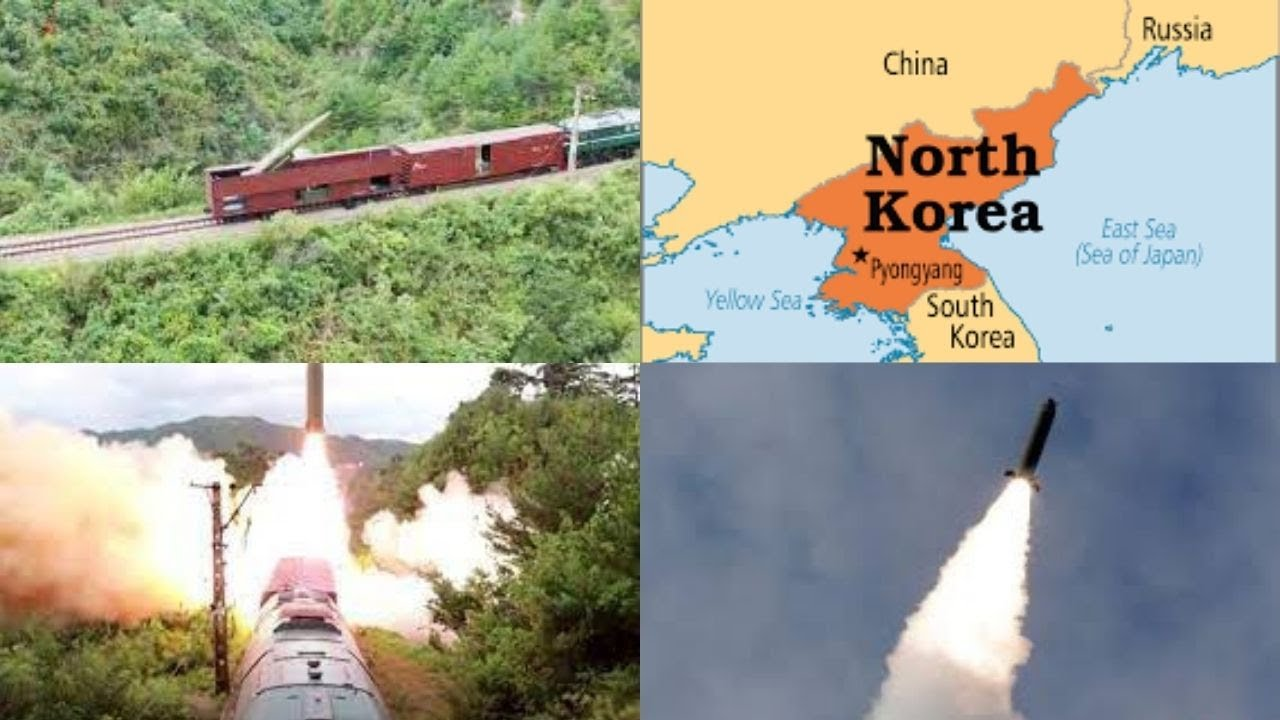 Video shows N Korea test firing missiles from new railway-mounted missile system