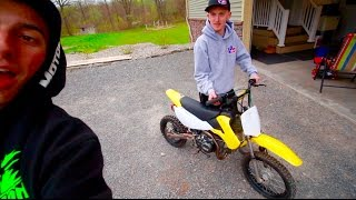 HE GOT A PIT BIKE FOR $250!!!