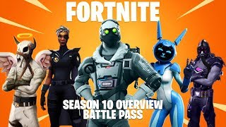 New Fortnite SEASON 10 BATTLE PASS SKINS & UNLOCKS! SEASON 10 LEAKED (Season 10 Battle Pass)