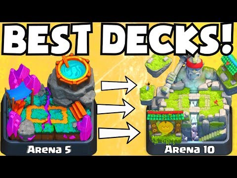 Clash Royale BEST DECK FOR ARENA 5 - ARENA 10 DECKS UNDEFEATED BEST ATTACK STRATEGY TIPS F2P PLAYERS