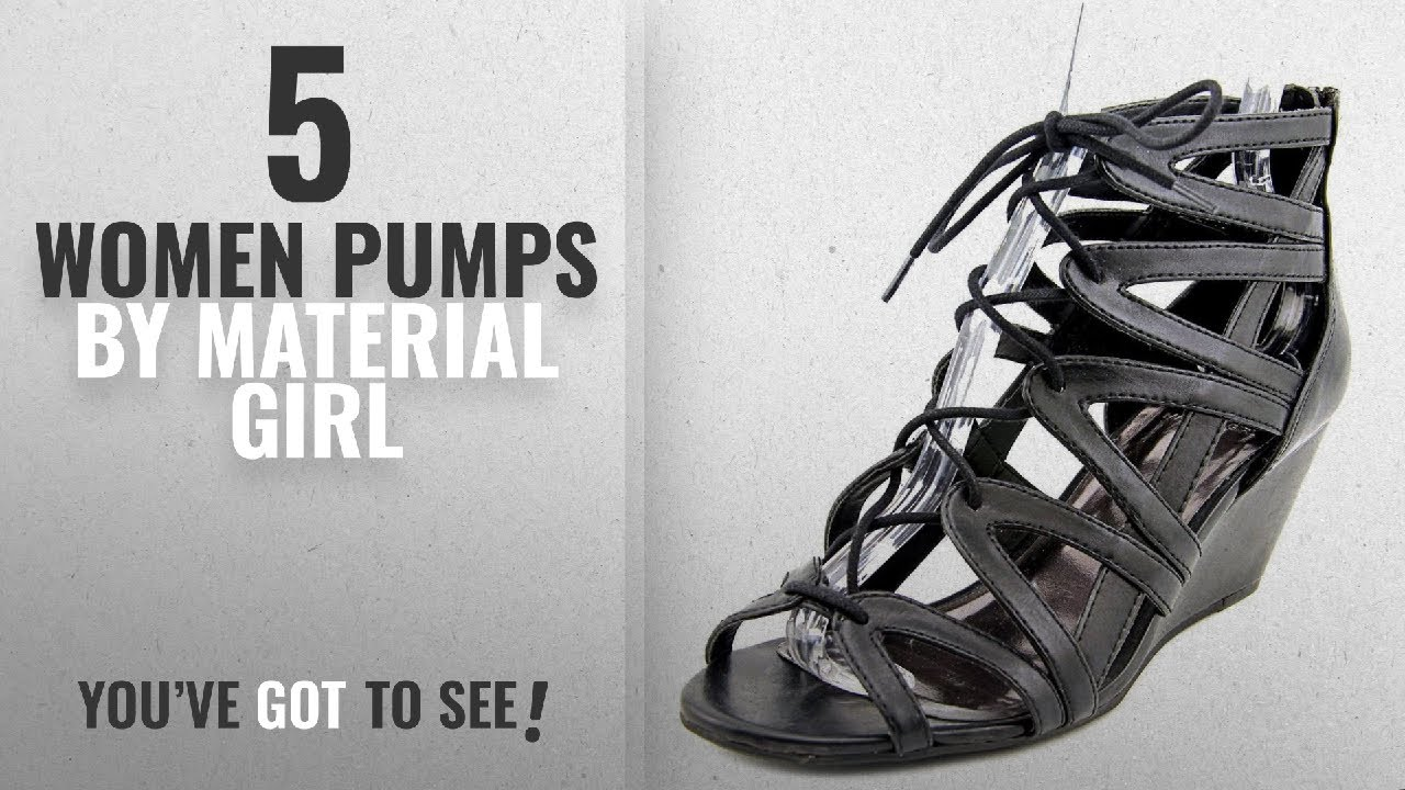 0ed34cf1cc2f Top 5 Material Girl Women Pumps  2018   Material Girl Womens Mhera Open Toe  Wedge Pumps