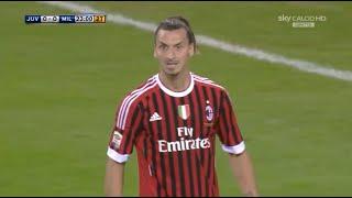 Zlatan Ibrahimović | Juventus 2-0 Milan | 2011-12 Serie A Round 6