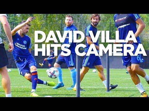 David Villa Hits Camera | INSIDE TRAINING