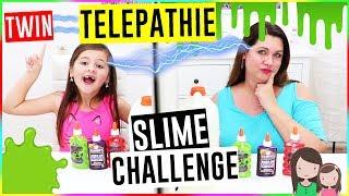 Telepathische Schleim Challenge 😂 Twin Telepathy Slime Challenge - Alles Ava