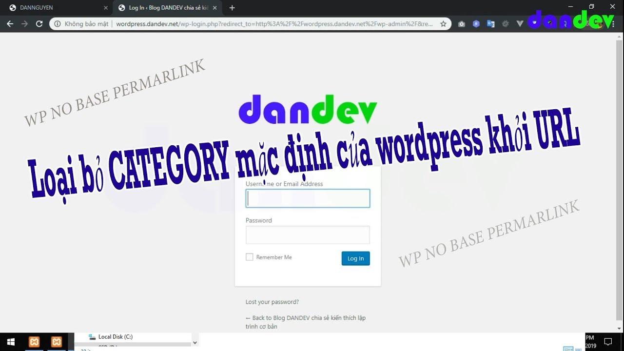 Loại bỏ category mặc định của wordpress khỏi url |dandev