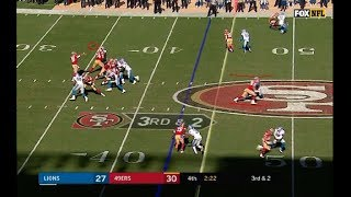 Detroit Lions Cheated vs San Francisco 49ers. Quandre Diggs False Holding Penalty 9/16/18
