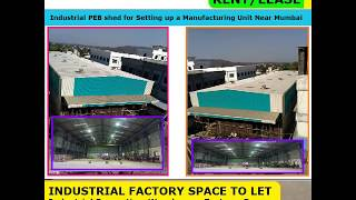 Industrial PEB shed for Setting up a Manufacturing Unit Near Mumbai, Machine Manufacturer Equipment
