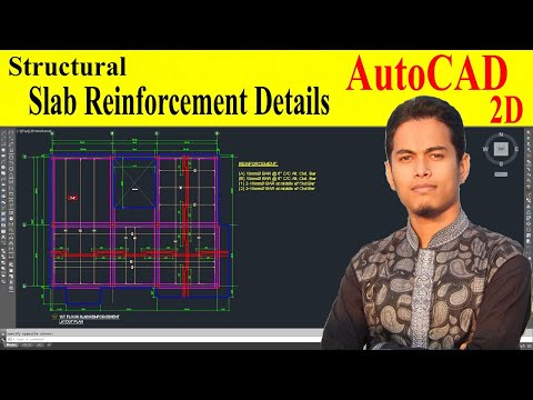 How to draw slab reinforcement details in autocad - YouTube