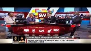Sportsnation hashtags for Floyd Mayweather vs Manny Pacquiao on May 2nd, 2015