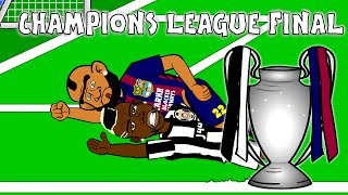 ucl champions league final 2015 highlights cartoon goals juventus 1 3 barcelona