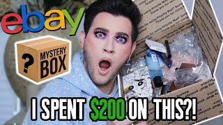 OPENING MY FIRST EBAY MAKEUP MYSTERY BOX! I spent $200 on this...