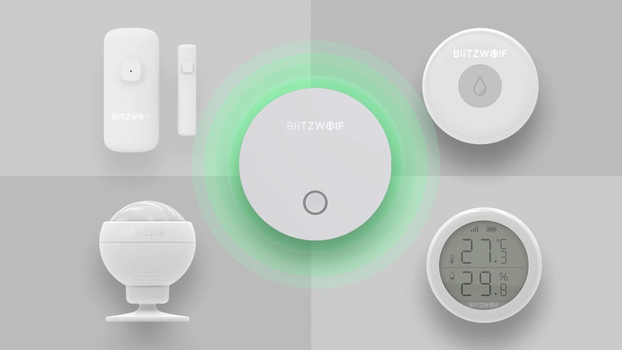 BlitzWolf® BW-IS 5 IN 1 ZigBee Smart Home Security Alarm System Set