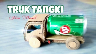 How to make a tank truck from cardboard
