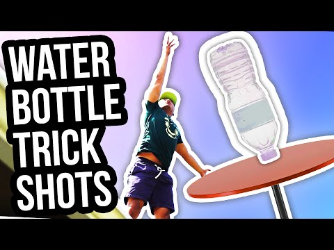 Thumbnail: WATER BOTTLE FLIP TRICK SHOTS!