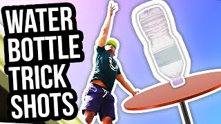 Repeat youtube video WATER BOTTLE FLIP TRICK SHOTS!