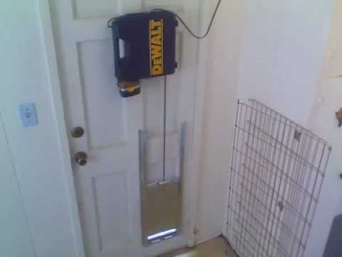 Remote Controlled Pet Door Youtube