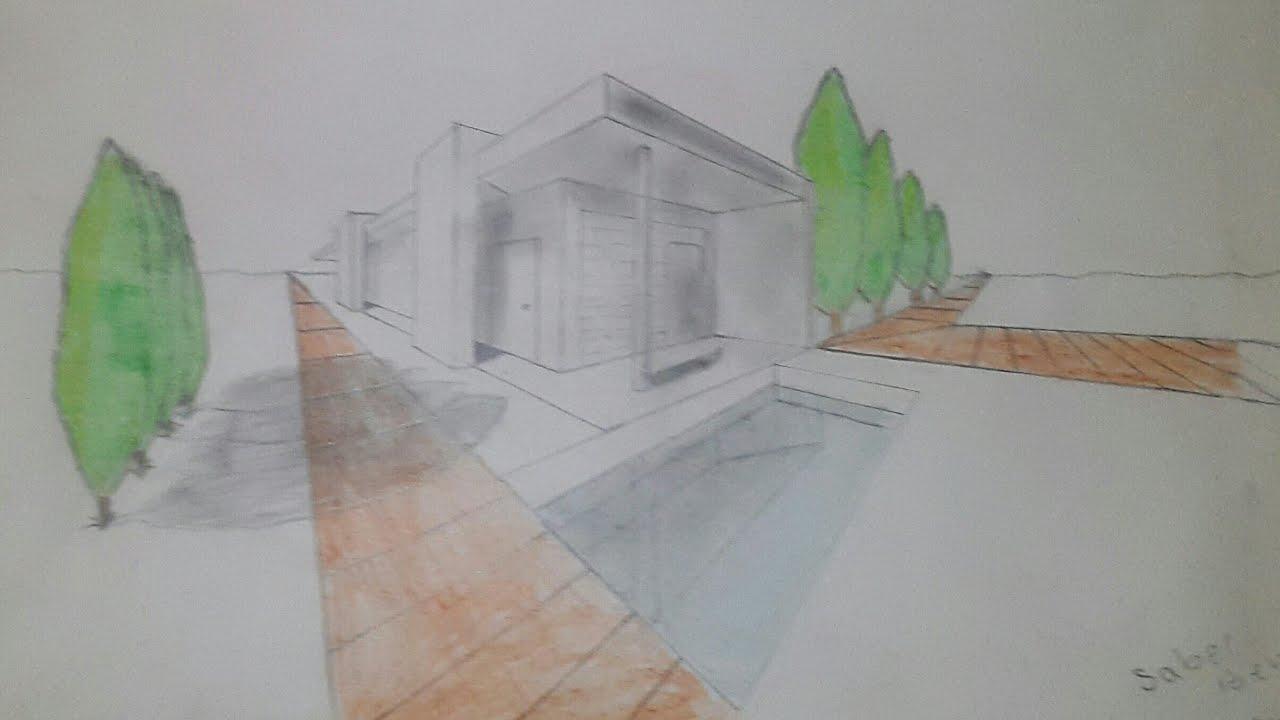 Comment dessiner une grande maison avec une piscine 3D