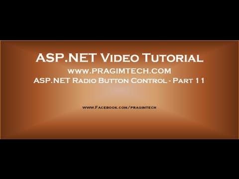 ASP.NET Radio Button Control   Part 11