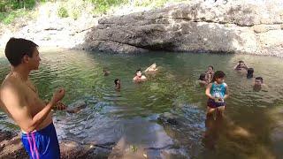 nos fuimos al rio a quitarnos la harina del cuerpo juego buscando un tesoro en harina parte 55