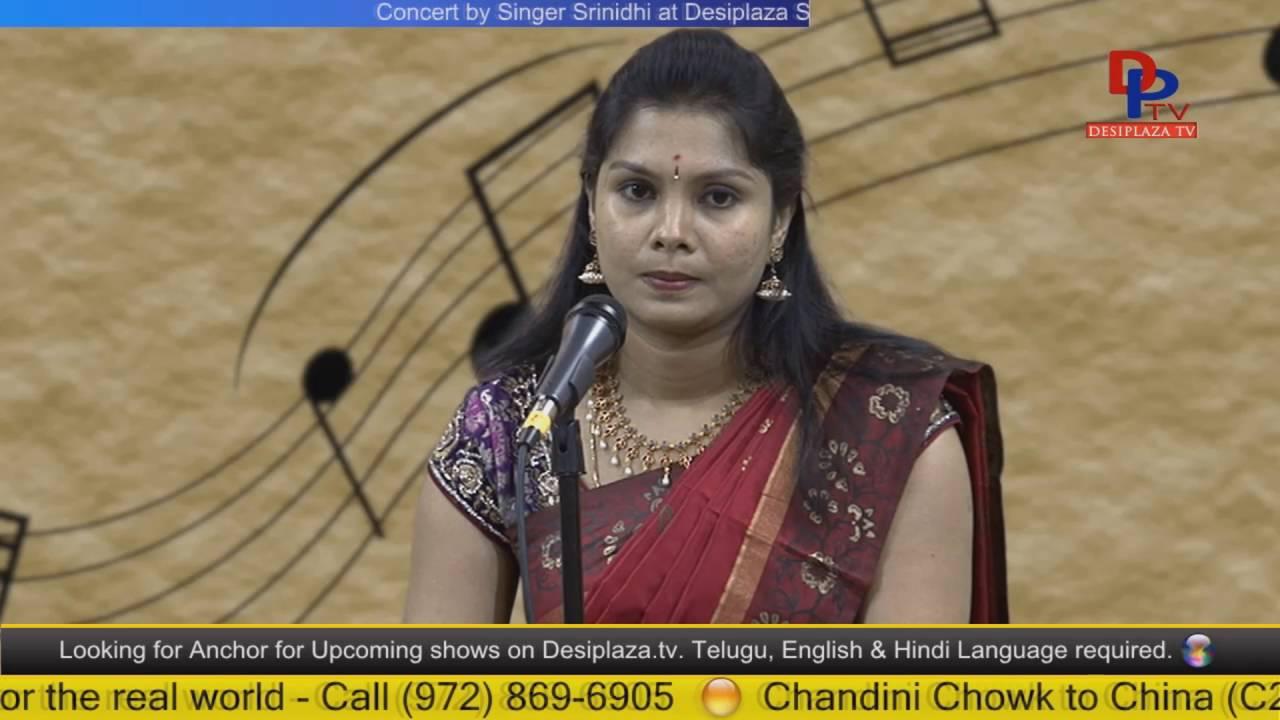 Part.2 Srinidhi  giving Carnatic music concert at Desiplaza Studio,Irving,Texas