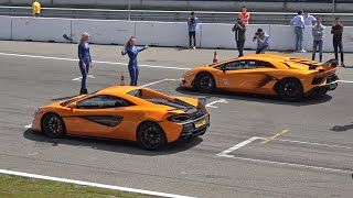 McLaren 570S vs Lamborghini Aventador SVJ