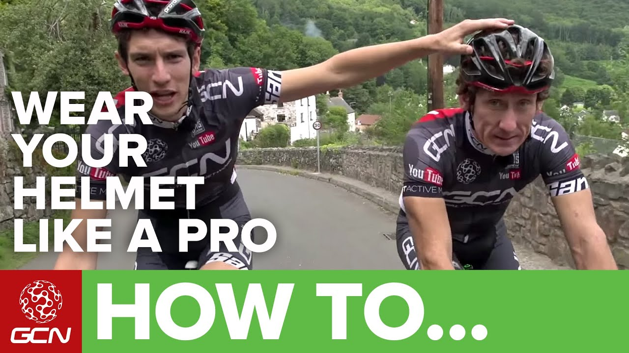 643824eeb How To Wear Your Helmet Like A Pro. Global Cycling Network