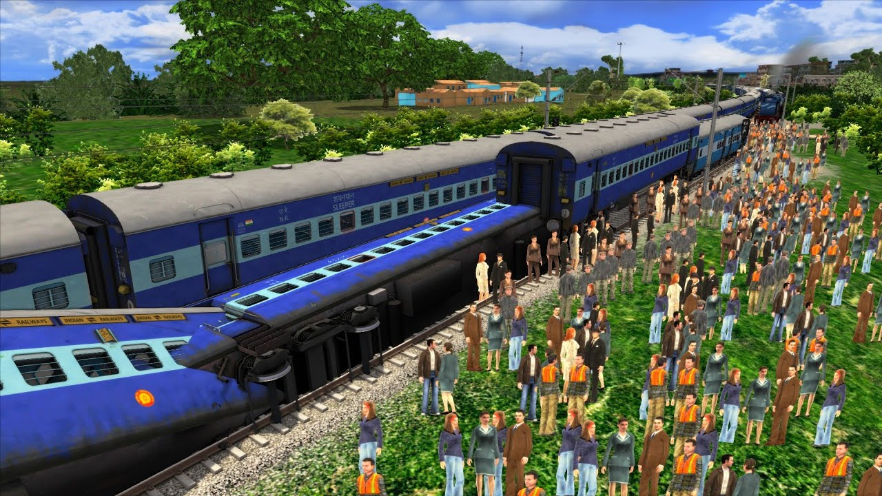 Train ACCIDENT Site : Malwa Express Train Derailed near Jabalpur – Indian Railways Train Simulator