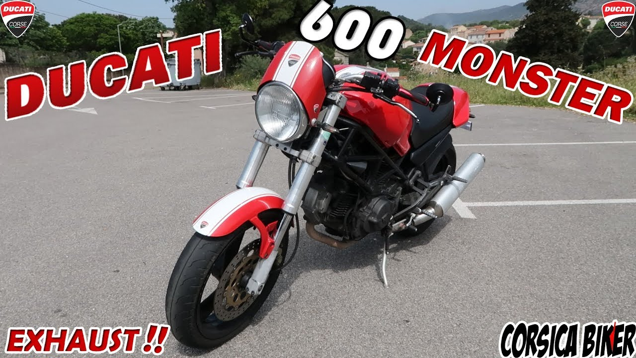 Test Ducati 600 Monster Accelerations Exhaust Review Youtube