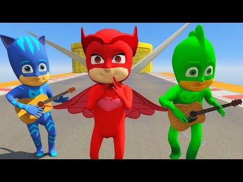 Pijamaskeliler Türkçe Gta 5 Mod 🚘Gekko Owlette ve Catboy Zorlu Oyuncak Araba Yarışı Yapıyor 🚗