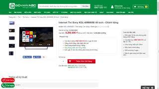 Giá Tivi Sony 40 inch KDL 40W660E Mới Nhất Tháng 01 Năm 2018 | Điện Máy ABC