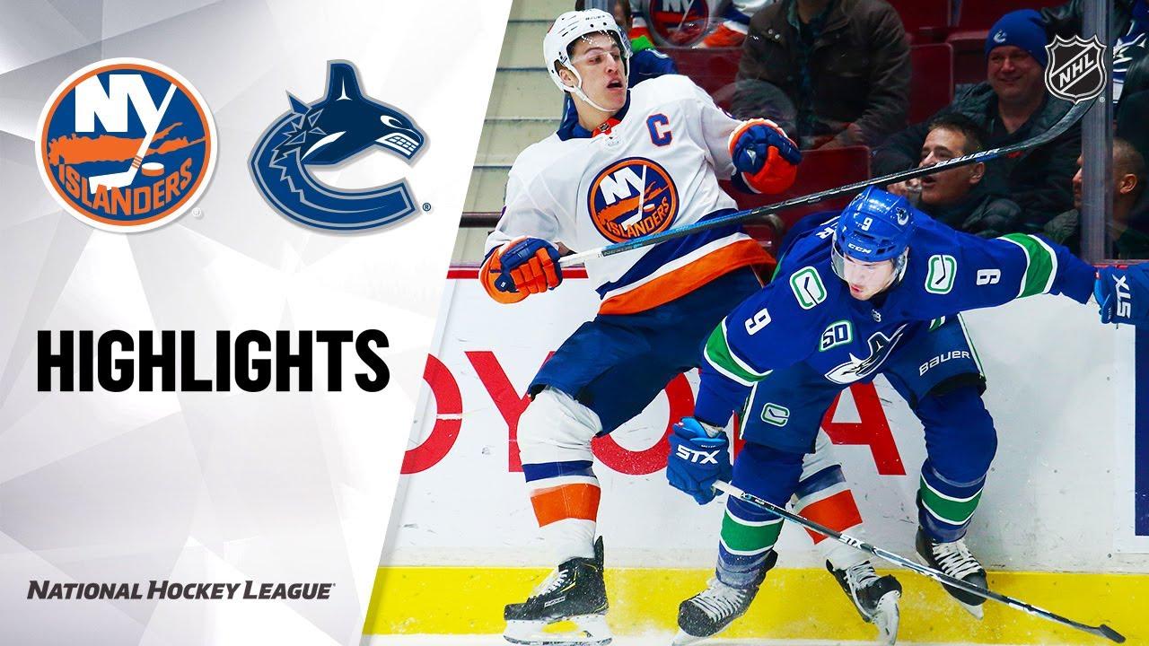 NHL Highlights | Islanders @ Canucks 3