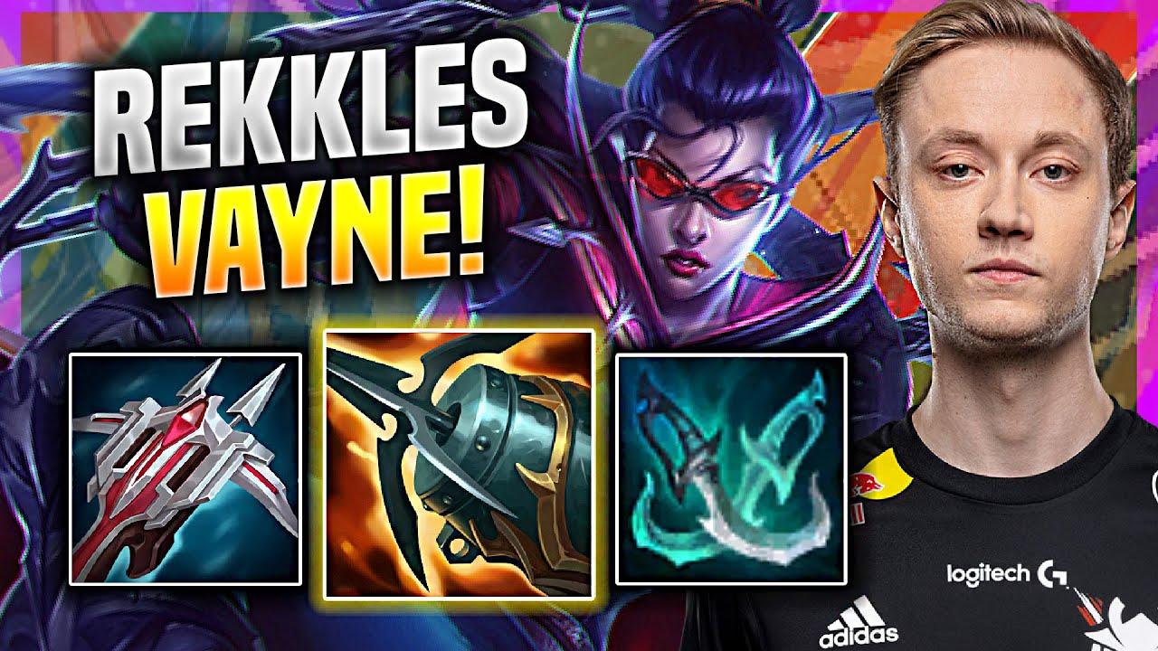 REKKLES BRINGS BACK HIS INSANE VAYNE! - G2 Rekkles Plays Vayne ADC vs Tristana! | Challenger Replays