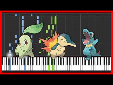 Pokemon  Pokemon Johto  Openinganmie{easy piano tutorial}SynthesiaHD