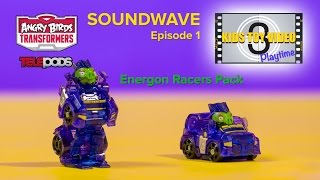 Angry Birds Transformers Energon Soundwave Pig Telepod Racer Video