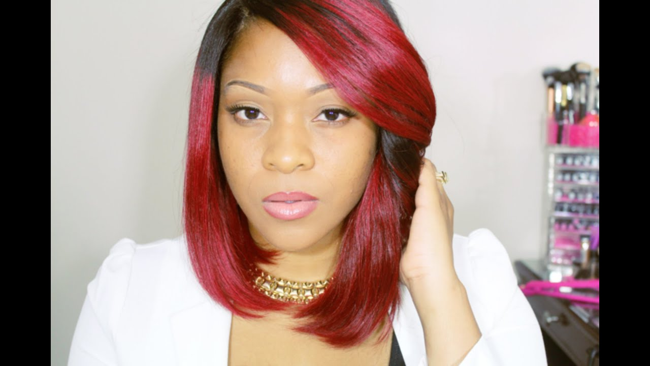 RPGSHOW Wig: Red Bob Wig With Lace Closure | Quick Weave