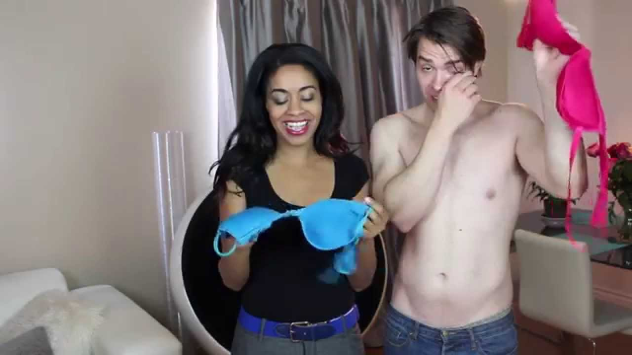 Girl taking off her bra