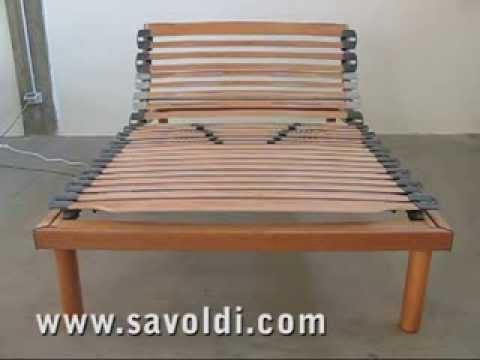 ☑️ Rete ortopedica doghe in legno elettrica 120x190 cm