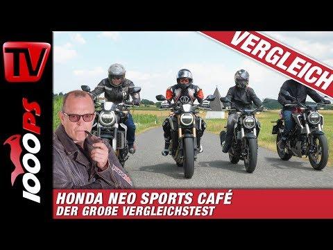 2019 Honda Neo Sports Cafe: CB125R; CB300R; CB650R und CB1000R Nakedbike Vergleichtest!