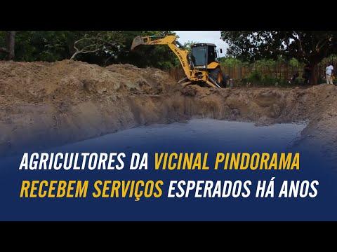 Agricultores da vicinal Pindorama recebem serviços esperados há anos