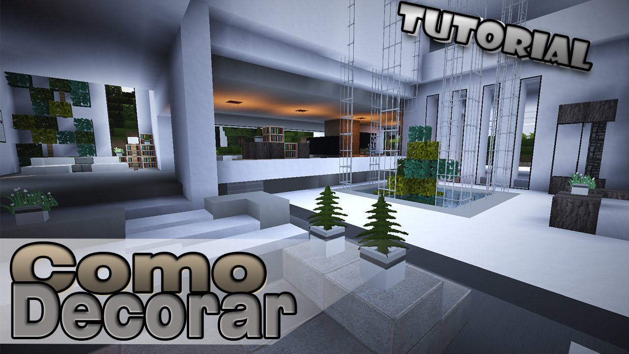 Minecraft como decorar una casa moderna vest bulo for Ver como decorar una casa