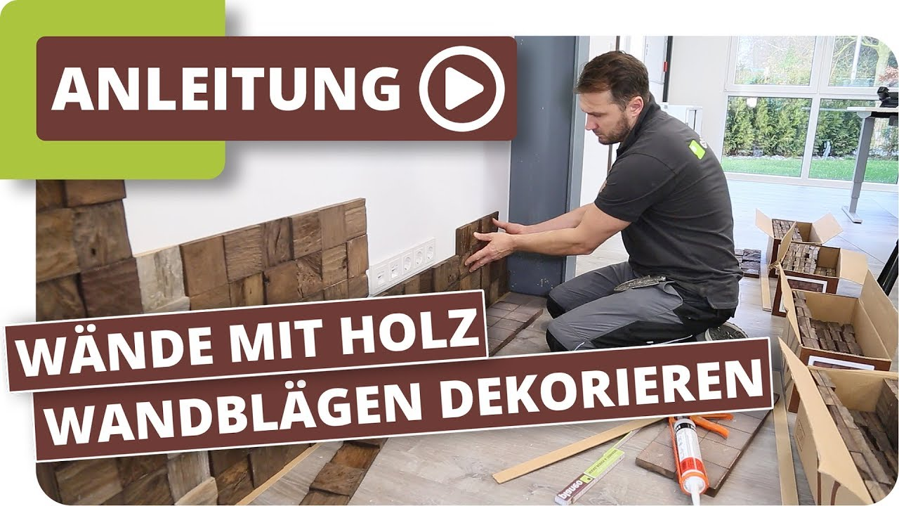 w nde mit holz wandbel gen dekorieren wandtrends youtube. Black Bedroom Furniture Sets. Home Design Ideas