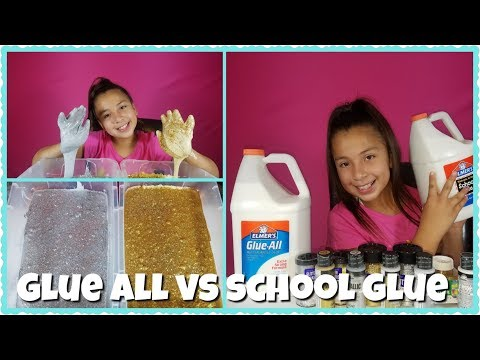 ELMER'S GLUE ALL VS ELMER'S SCHOOL GLUE / Gold vs Silver