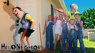Hello Neighbor in Real Life Clown Robber Takes Our Treasure! SENT BY GAME MASTER!!