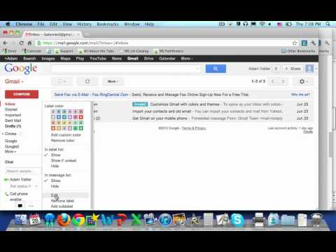 how to add label to gmail inbox