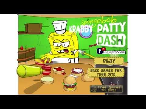 Игра Губка Боб на работе онлайн Spongebob Patty Dash